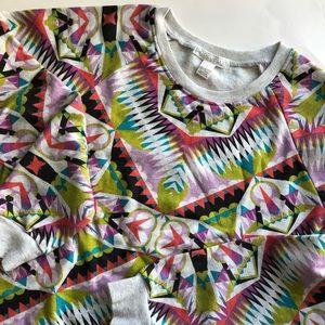 Forever 21 Patterned Crew Neck Sweatshirt (M)